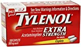TYLENOL Extra Strength Pain Reliever & Fever Reducer, 500 mg Caplets 100 ea (Pack of 6)
