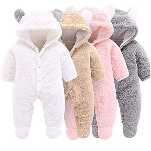 Unisex Bambino Inverno Pagliaccetto Coniglio Tigre Cucire Animale Stile Flanella Cosplay Halloween Costume Attrezzatura (80cm(6-12 Mesi), Panda)