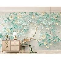 3D Murales De Pared 400X280Cm Pequeñas Flores Verdes De Menta Fresca Camera Da Letto Sala Decorazione Include Colla