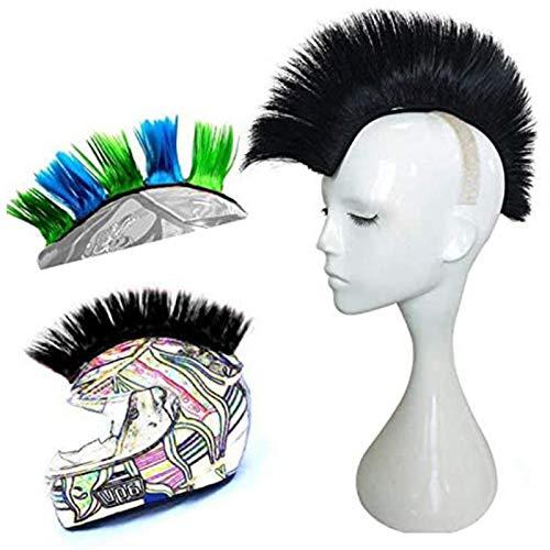 GeKLok Helm Mohawk, Helm Hawks kleben an Haaraufkleber Synthetische Perücken Solid...