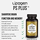 Lipogen PS Plus - Memory, Focus, Clarity, Brain Booster, Memory Supplement for Seniors- Scientifically Formulated to Enhance Cognitive Function. Clinically Proven Formula. (60 Softgels) #1