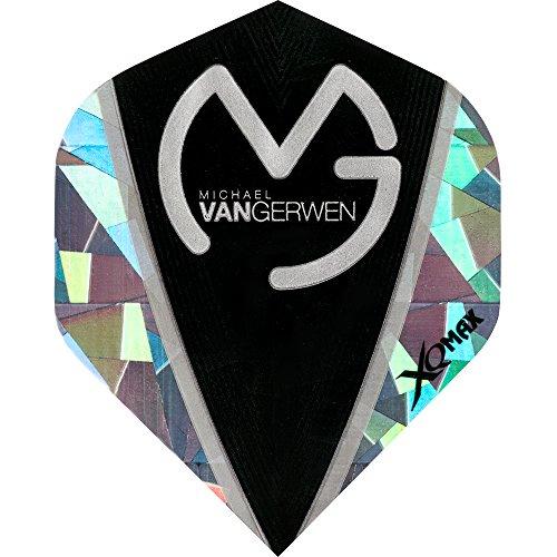Michael van Gerwen Dart Flights, MVG–XQMax 100–STD–2D Broken Glas–5sets (15)