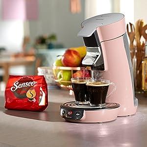 Philips hd6563/31Senseo Viva Kaffeepadmaschine 400100001, 0,9l, Puderrosa