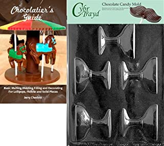 Cybrtrayd Bk-W056 Champagne Glass Chocolate Candy Mold with Chocolatier's Guide, 2-1/2