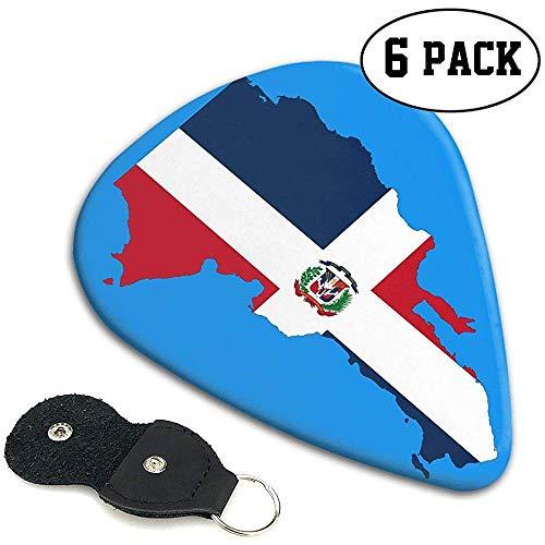 Dominikanische Republik Flag Outline 351 Shape Classic Celluloid Plektren 6er Pack