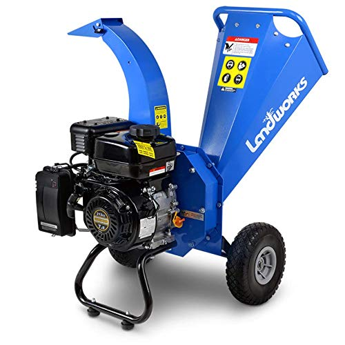 Landworks Mini Wood Chipper Shredder Mulcher Heavy Duty 7HP 212cc Compact Design 3' Inch Max Capacity
