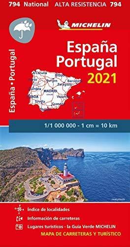 Mapa National España - Portugal 2021  Alta Resistencia : Maps (Mapas National Michelin)