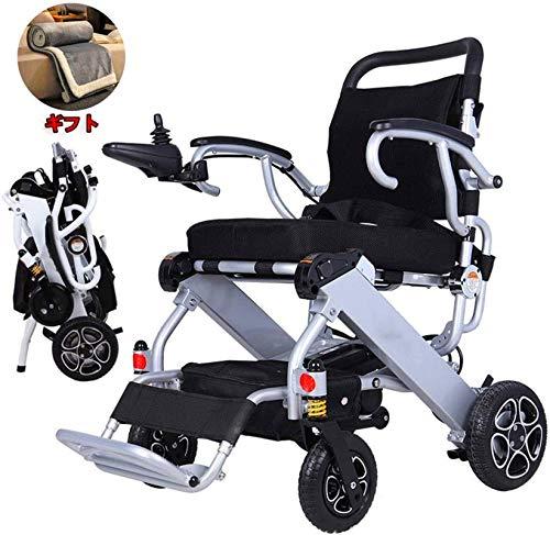 Silla de Ruedas eléctrica Plegable, Silla de ruedas, silla de ruedas 2020 ligera compacta eléctrica plegable de la velocidad máxima 4,5 kilometros por hora, la batería Peso 1,4 kg | 3.1 libras, Grueso