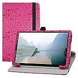 LFDZ Funda Lenovo Tab M10,Cuero Sintético Rotación de 360 Grados de Función de Soporte para 10.1' Lenovo Tab M10 HD (2nd Gen) TB-X306X Tablet(Not Fit Lenovo Tab M10 Plus),Magenta