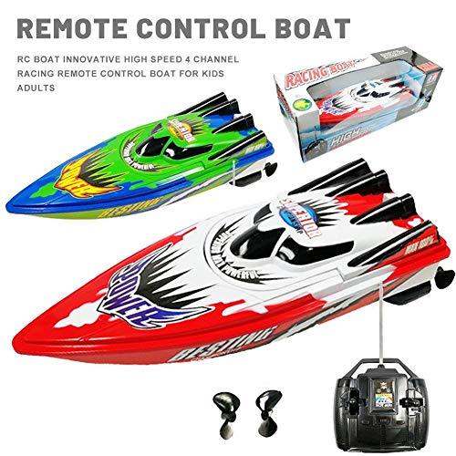 househome Ferngesteuerte Boote RC Speed Boot Ferngesteuertes Speedboot, Waterproof Remote Control Boat, for Pools and Lakes 20-30km/h for Kids and Adults