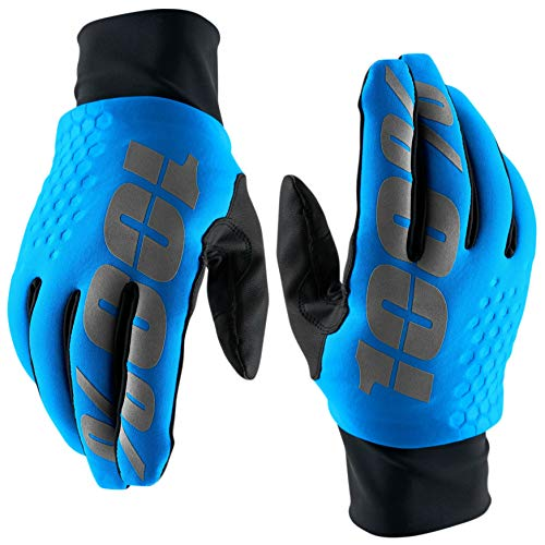 100 Percent Hydromatic Brisker Mens Waterproof MTB Gloves - Blue, XXL / 100% Cold Water Wet Weather Resistant Full Finger Mountain Bike Mitt Bicycle Cycling Cycle Ride Insulated Winter Trail Wear
