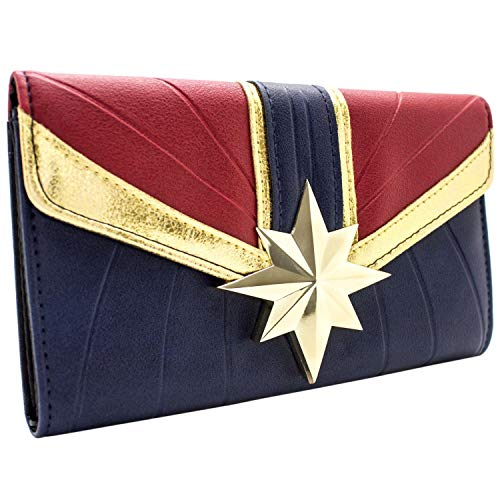 Captain Marvel Kree Krieger Anzug Portemonnaie Geldbörse Blau