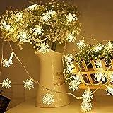 Yosemite - Luz USB de 20 luces LED con forma de copo de nieve, Navidad, fiesta, árbol de Navidad, decoración de boda, bar, jardín, hogar, dormitorio