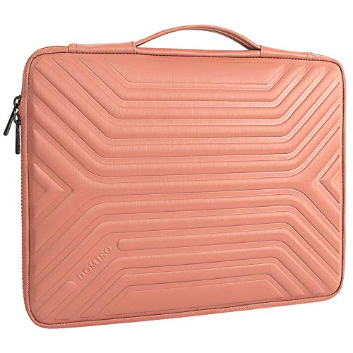 DOMISO 15.6 Inch Shockproof Waterproof Laptop Sleeve with Handle Lightweight Soft EVA Tablet Case for 15.6' Laptops/Apple/Lenovo IdeaPad/Acer Aspire E15 / HP Envy 15 / Dell, Pink
