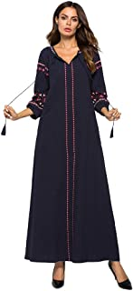Plus Size Kaftan Dress Tunic Long Maxi Kimono Caftan Gown Nightdress Beach Party Casual Dress