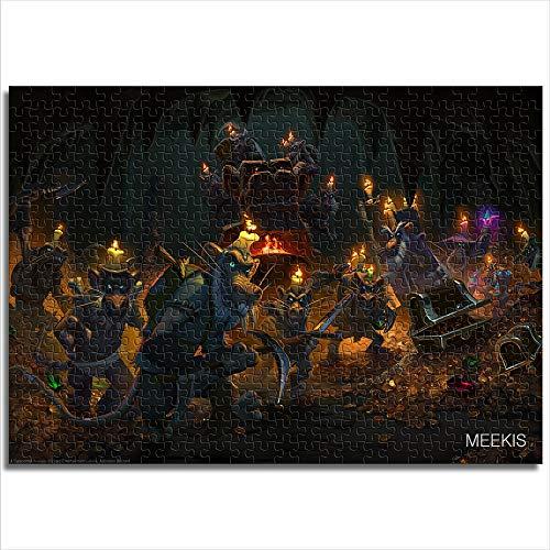 yuhho Puzzle 1000 Hearthstone Legend of Warcraft Heroes Geschenke für Liebhaber oder Freunde 50x75