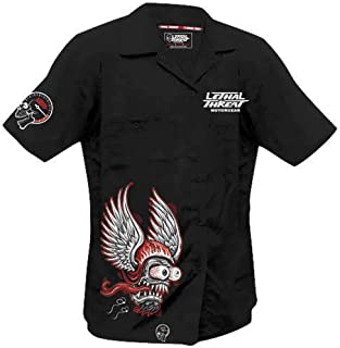 Lethal Threat Winged Helmet Work Shirt (Black, X-Large)