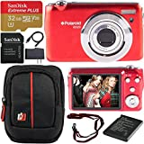 Polaroid iEX29 18MP 10x Optical Zoom Compact Digital Camera (Red) with 720p HD Video...