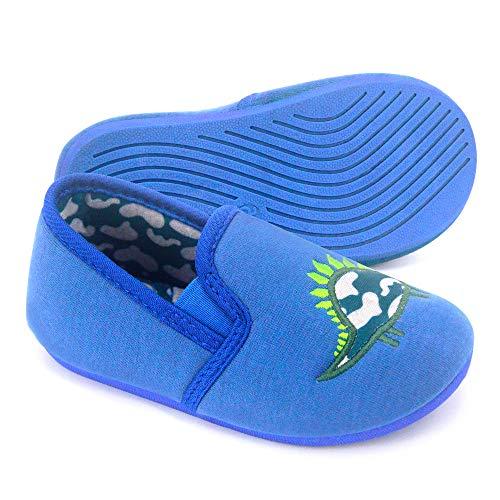 Dream Bridge Kids Slippers Anti-Slip Cotton Shoes for Boys Girls Indoor Outdoor (Dinosaur)