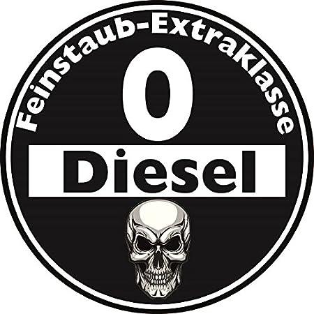 Aufkleber Feinstaub Umwelt Plakette Diesel Schwarz Für Die Innenscheibe 2 Stück Jdm Tuning Fun Lustig Auto Lkw Sticker Autoaufkleber Fahrverbot Umweltzone Auto