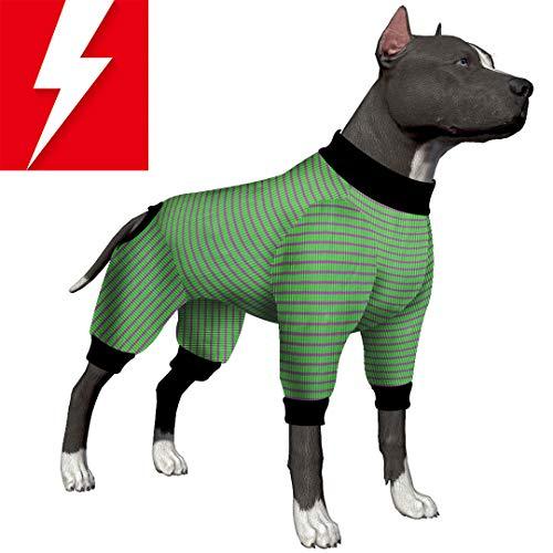 LovinPet Hunde-Pyjama/Hundehemd / 4-beiniges Design, für große Hunde, mit Pitbull Shirt/Bulldoggen-Pyjama/Boxer-Pyjama, Medium