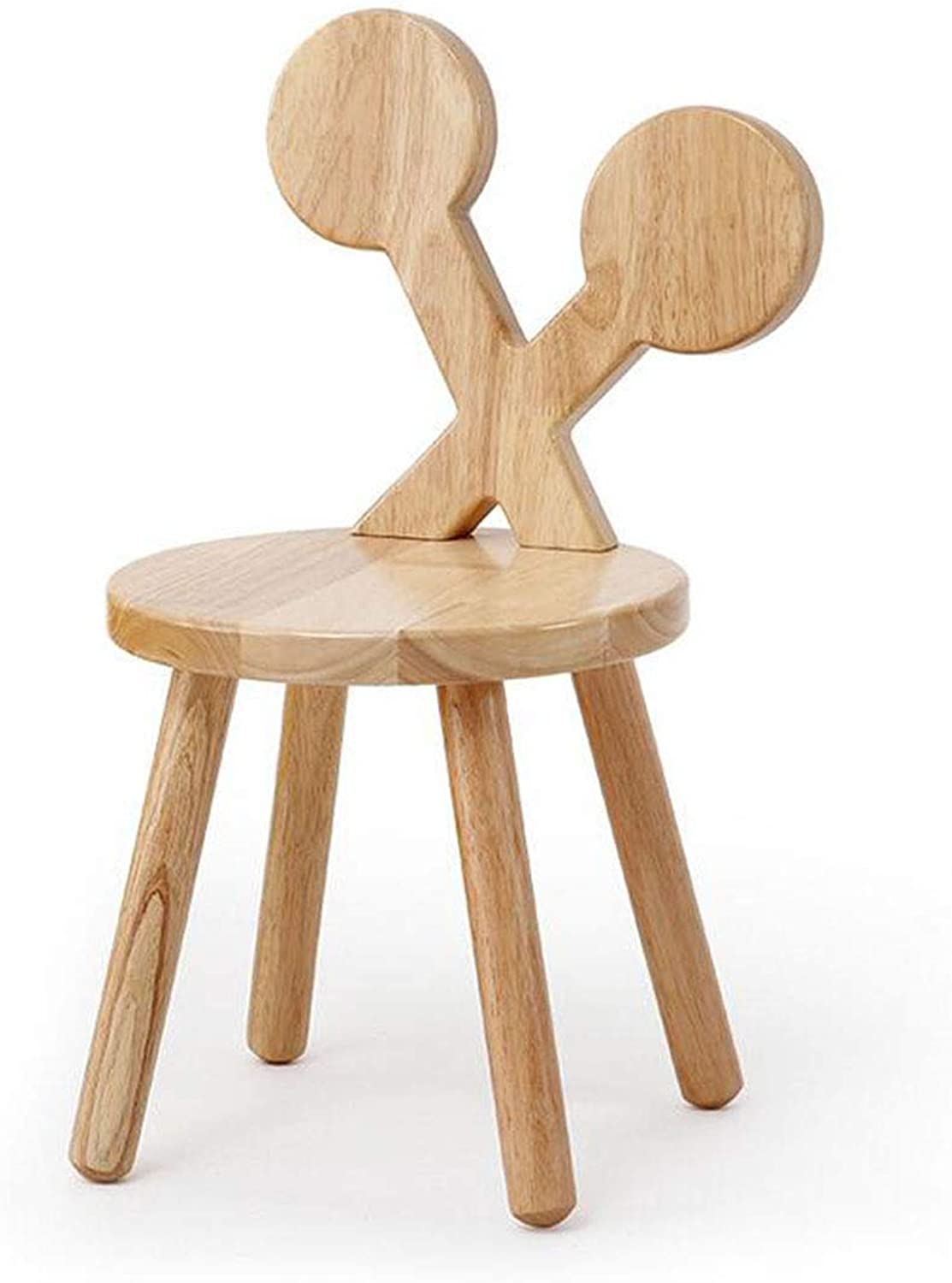 Y & Z Small stool solid wood backrest chair solid wood small bench home cartoon stool change shoe stool baby Chair Stool (color   02)