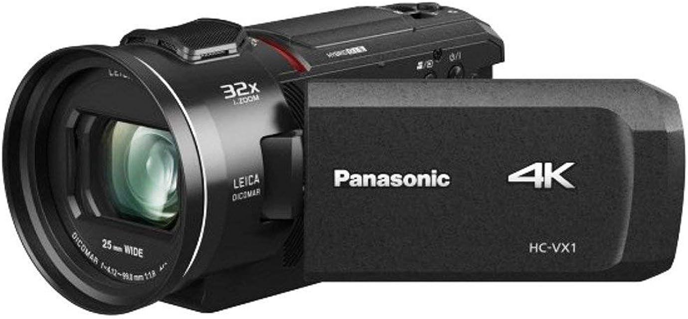 Panasonic HC-VX1 - Videocámara Semi-Profesional de 24x O.I.S de 5 Ejes Objetivo Leica F1.8 - F4 Zoom 25 mm - 600 mm 4K HD Color Negro