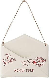 Mud Pie Letters to Santa North Pole Ceramic Envelope Mail Hanger