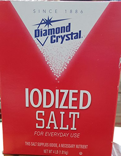 Diamond Crystal Table Iodized Salt, 4 Pound (Pack of 2)