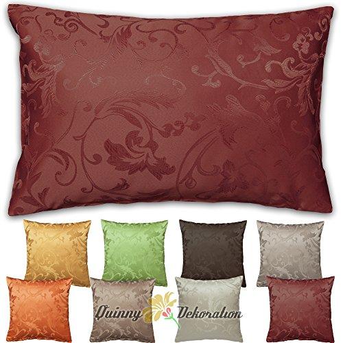 Housse de coussin jacquard 40 x 40, 50 x 50, 40 x 60 cm, plusieurs couleurs au choix 40 x 60 cm rouge