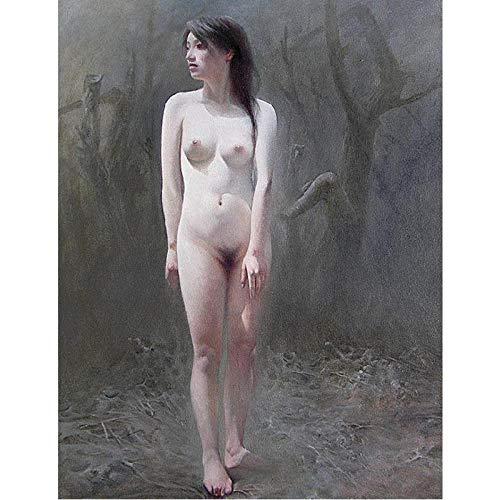 Dekorative Kunst wandfarben für büro schöne Geschenke büro hohe qualität sexy Nude, gemalte gemälde Werden 60x90cm kein Rahmen