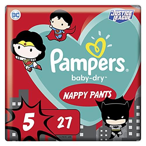 Pampers Baby-Dry Pants 5, 27Höschenwindeln, Einfaches An- und Ausziehen, Zuverlässige Pampers Trockenheit, 12kg-17kg