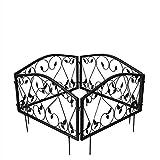 NBRTT Valla de jardín galvanizada, Valla de Alambre de Hierro, Valla Decorativa para Vallas de Patio Cama de Flores Perros de Animales Barrera Sección de Borde Decoración de Bordes
