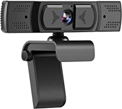 1080P Webcam with Microphone, 2021 [Upgraded] HD Streaming Webcam, AutoFocus, Privacy Cover, Laptop/Desktop USB Computer W...