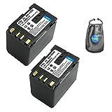 Amsahr b-bnv428u-2ct Digital de Repuesto para cámara y videocámara batería para JVC BN: V428, V428U, v408-h con Lente para Accesorios, Pack de 2(Gris)