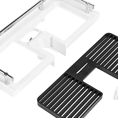 YuKeShop Estante de almacenamiento de baño-ABS para barra de ducha, organizador de bandeja de almacenamiento, práctico accesorio de baño