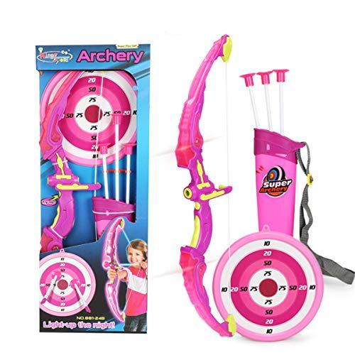 DEARLOYEA Conjunto de brinquedos com arco e flecha para meninos e meninas com 3 flechas de sucção para crianças e heróis acessórios para crianças