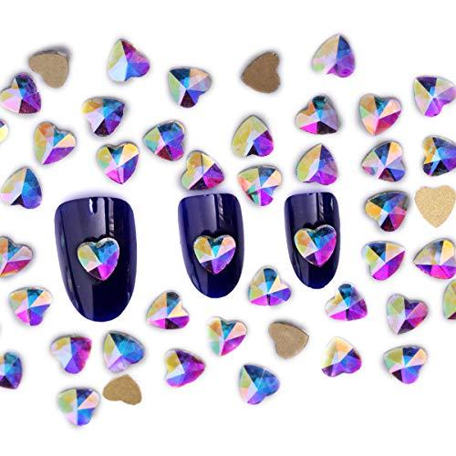 Blingbox Lot de 144 strass à dos plat pour nail art, Cristal AB, P07