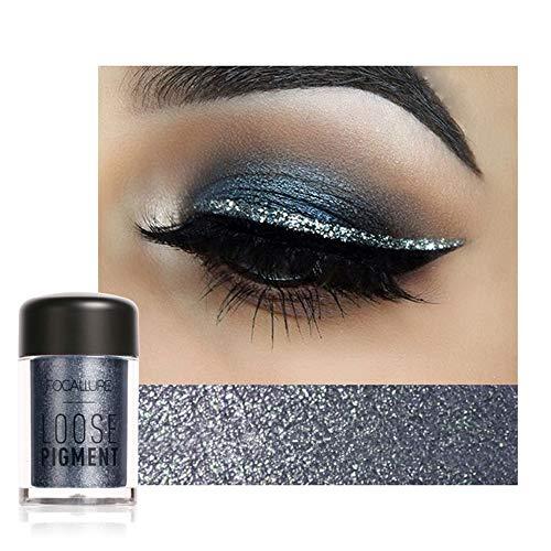 MORETIME sombra de ojos cosmética Shimmer Crema de Maquillaje con Color Cálido y Frío Focallure 12 colores Maquillaje de sombra de ojos Perla Sombra de ojos metalizada Paleta de maquillaje