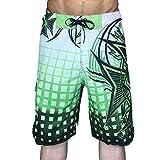 LINSID Herren Sport Running Beach Short Board Hose Badehose Unterhose Schnelltrocknende Bewegung Surfshorts Gym Badebekleidung Für Männer grün