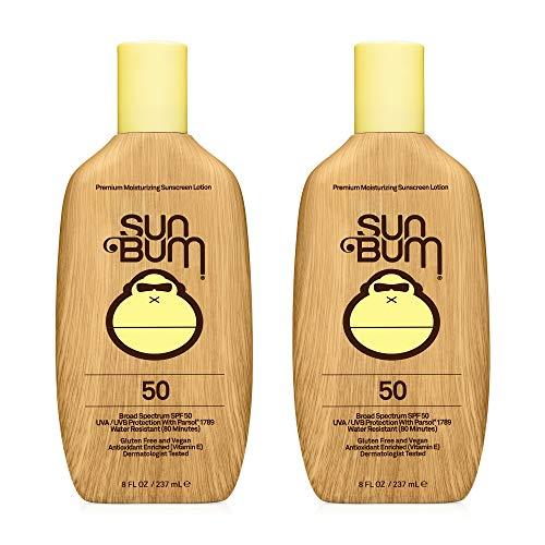 Sun Bum Sun Bum Original Spf 50 Sunscreen Lotion Vegan and Reef Friendly (octinoxate & Oxybenzone Free) Broad Spectrum Moisturizing Uva/uvb Sunscreen With Vitamin E 8 Ounce 2 Pack