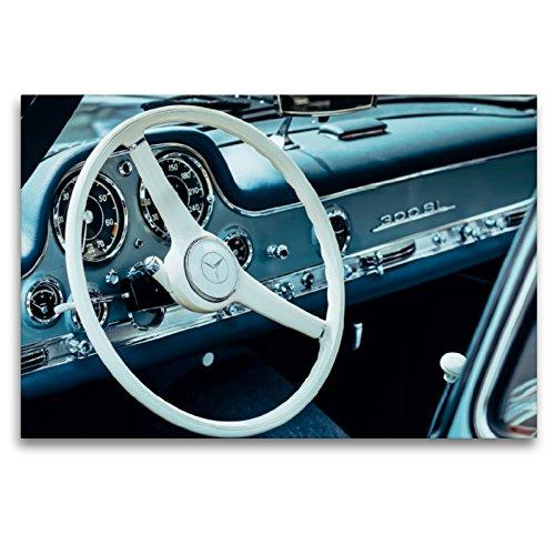 CALVENDO Premium Textil-Leinwand 120 x 80 cm Quer-Format Mercedes Benz 300 SL Flügeltürer, 1955, 2996 CCM, 215 PS, 250 km/h, Leinwanddruck von Dieter Meyer