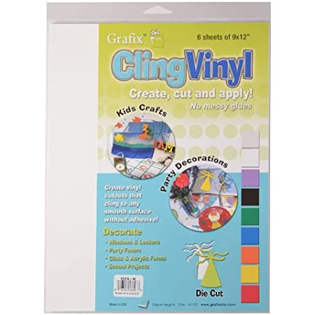 Grafix 9-Inch-by-12-Inch Cling Film White, 6-Pack (KCF6W)