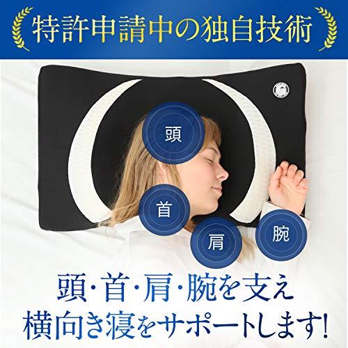 枕横向き寝専用まくら安眠快眠まくらストレートネックいびき防止横向き枕ムーンムーンYOKONEClassic横向き寝低反発マクラヨコネクラシックmoonmoon