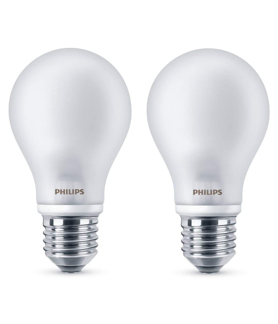 Philips Lighting Bombilla LEDclassic E27, 40 W, Cálida, Pack de 2, 2: Amazon.es: Iluminación