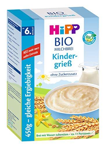 Hipp Bio-Milchbrei Kindergrieß, 6er Pack (6 x 450g)