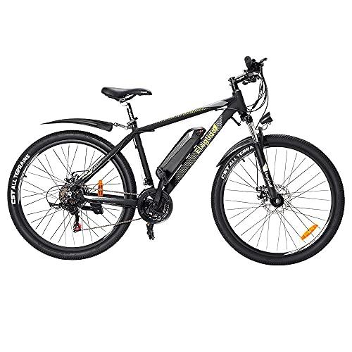 Eleglide M1 Plus VTT 27.5' Vélos de Ville électriques IPX4 Double Frein à Disque Adulte E-Bike Racing E-Bicyclette pour Hommes/Femmes Vélos Hybrides d'équitation d'extérieur EN15194