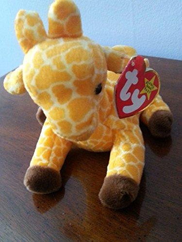 RARE Retired 'Twigs the Giraffe' Ty Beanie Babies w/near MINT tags, PVC Pellets, No # Stamp, (2) Errors