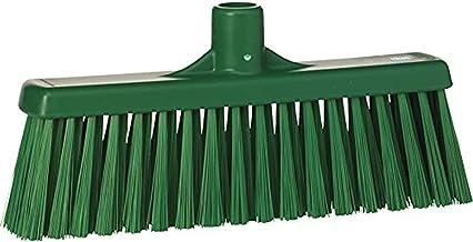 "Vikan 31662 Medium Sweep Floor Broom Head, Polypropylene Block, 12-1/4"" Polyester Bristle, Green"