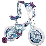 Huffy Frozen 2 Kid Bike, Training Wheels, Streamers & Basket Included, 12 inch, Blue